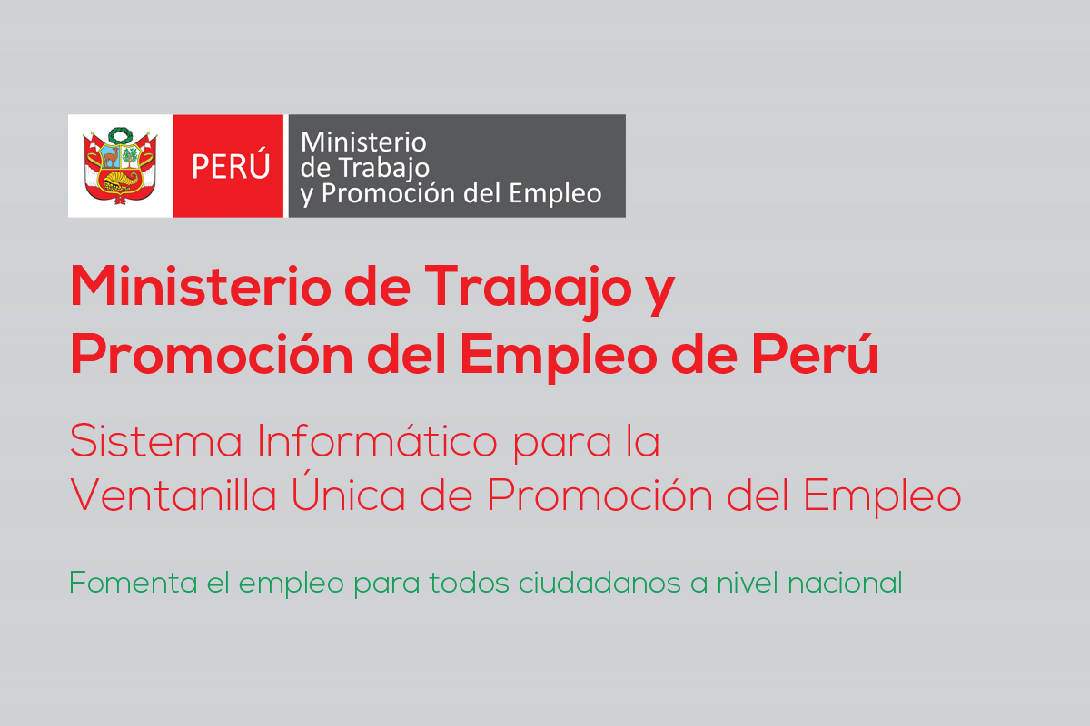 Ministerio de trabajo de per verso ingenier a for Ministerio de trabajo